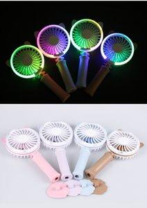 4 Farben USB-Handheld-Torsions-Katzen-Ventilator-elektrischer Energie Desktop-bunter Nachtlicht-Ventilator-Mini-Luftkühler Freies Verschiffen