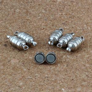 30 set / lotto 15.5 * 5.5 MM Potente Magnete Magnetico Collana Catenacci argento antico per collana gioielli fai da te