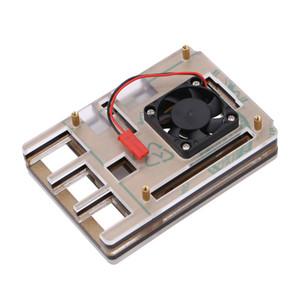 Caja de acrílico de 6 capas de Freeshipping Ventilador del enfriador de enfriamiento de Shell para Raspberry pi 3 modelo B