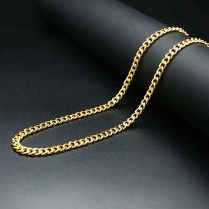 хип-хоп цепи ожерелье мужчины рэппер модные золотые цепи Куба 18 k настоящее золото покрытием цепи ювелирные изделия бесплатная доставка