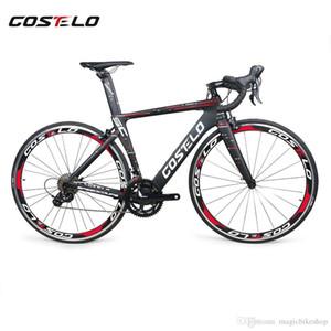 Más nuevo Costelo Speedcoupe bicicleta de carretera de fibra de carbono bicicleta completa ruedas de 40 mm 3500 grupo con vástago del manillar bicicleta barata