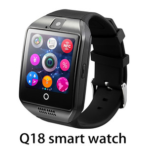 Top quality Q18 Bluetooth Smart Watch Support SIM Card NFC Connection Health Smartwatches For Android Smartphone With Rectangle Package