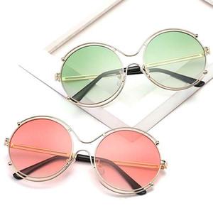 Brand Designer Round Sunglasses Classic Men Retro John Lennon Glasses Women Metal Fashion Eyeglasses 6 color