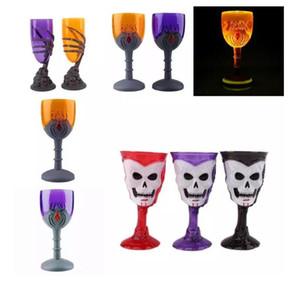 새로운 와인 컵 발톱 파티 짜증 스켈레톤 스컬 할로윈 잔 LED 무서운 컵 홈 가구 장식