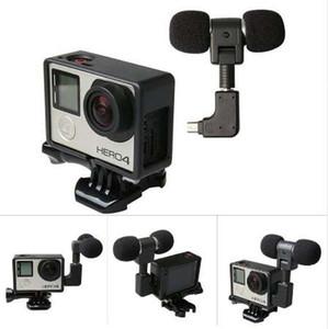 Para Gopro Hero 4 3+ 3 Cable de adaptador de micrófono USB a 3.5mm Cable Micrófono estéreo Steini para Go Pro Hero4 Marco de protección estándar