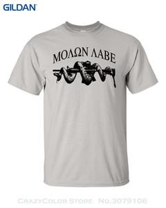 Toptan indirim 100% Adam Için Pamuk T Shirt Molon Labe Ar15 Yılan Pro Gun Kontrol erkek Tee Gömlek