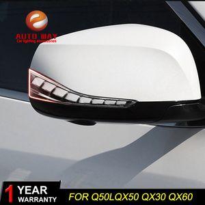 infiniti QX50 Q50l Q50 Q70 QX30 QX60 infiniti Q60 Q30 Araba Şekillendirme ücretsiz Kargo Araba Led Lamba dikiz aynası ışık lamba