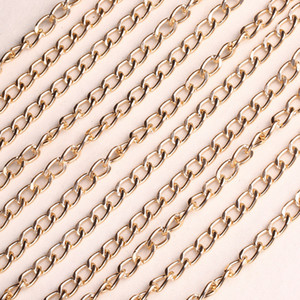5 Meters lot 18*12MM Gold Aluminum Bulk Chain Necklace Chain For Jewelry Making DIY Material Findings