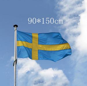 3*5feet 90*150 см большой флаг Швеции - полиэстер шведские национальные флаги баннер офис/деятельность/парад/фестиваль/украшения дома