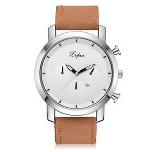 Lvpai Casual Herren Quartz Lederband Uhr Analog Armbanduhr Armbanduhr Herren automatische Männer Sport Quarz Uhren