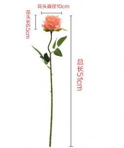 Высокого класса моделирования роза шелковая ткань искусственный цветок дома свадебные украшения инженерных программного обеспечения оптом завод прямых продаж