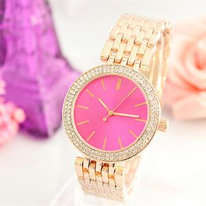 Vendita caldi delle donne Rose Gold Watch Watches Dress Acciaio Ladies Fashion Sport orologi del quarzo regalo Orologio Reloj Mujer