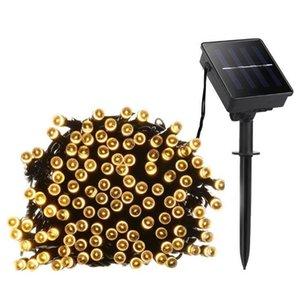 تصميم جديد 100 بقيادة أضواء سلسلة الشمسية 12M الجنية بقيادة قطاع مصابيح الطاقة الشمسية في الحديقة حديقة عرس حزب عطلة عيد الميلاد الديكور