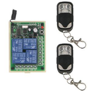 유니버셜 DC 12V 24V 릴레이 4CH 4 채널 무선 원격 제어 스위치 수신기 모듈 및 RF 송신기, 315 / 433MHz