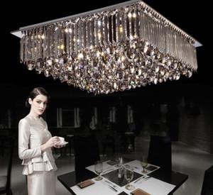 تصميم جديد ! الحديثة الرائعة السخي led مجزأة عكس الضوء الثريات ضوء السقف تركيبات داخلي كريستال مصابيح السقف الإضاءة llfa