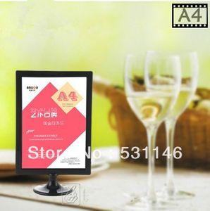 10 PZSABS plastica digitale cornice poster poster advetising cartellino del prezzo A4 espositore, display del menu da tavolo (Dimensioni: A4)