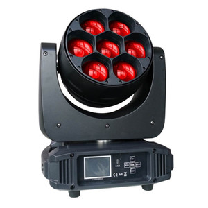 Zoom Led Movendo 40w de alta potência Chefe Raio de Luz Wash Luz 7pcs LED Lighting Stage Chip Pro