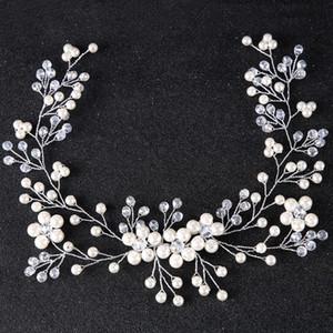 Floral mariage cheveux bijoux strass mariée bandeau fleur cheveux accessoires femmes ornements de cheveux fait main mariée pièce tête S918