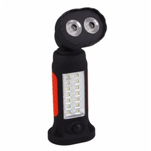 Super Bright Portable 16 LED Flashlight Torch 360 Rotation Hook Work Lantern Camping Hanging Tent Lamp Light For 4xAAA Battery H322