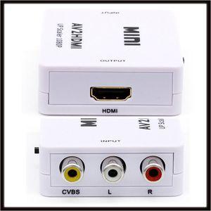 AV para HDMI AV2HDMI Conversor RCA Conversor Adaptador Mini Composto CVBS full HD 1080 p / 720 p de saída
