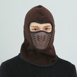 Vélo Vélo Hiver Chaud Masque Pour Le Cou Unisexe En Plein Air Masque Sport Thermal Flannel CS Chapeau Ski Hood Casque Casquettes 9 Couleur Nouvelle Arrivée MK217