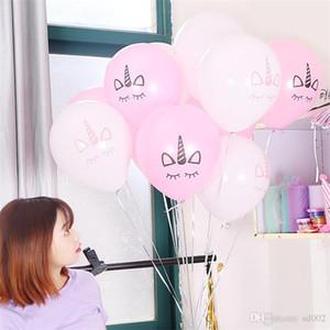 Unicorn Hava Balonlar Ile Lateks Balon Doğum Günü Düğün Parti Olay Sigara Toksik Kullanımlık Güzel Karikatür Moda Birçok Renkler 2 5hy ZZ