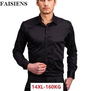 FAISIENS Plus Größe 7XL 8XL 9XL 10XL Männer Langarm Große 11XL 12XL13XL 14XL Formale Hemd Business Hochzeit Baumwolle Kleid Shirts