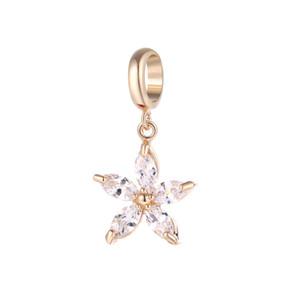 엔젤 벨라 끝없는 매력 Pentacle 크리스탈 지르콘 Charm 교환 가능 보석 3 색 Brass 소재 DIY 액세서리 Small pendant