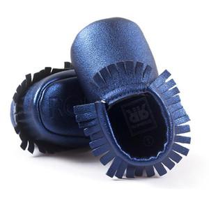 Bebek Moccasins 28 Stil 0-18 Ay Yürüyor Çocuk Saçak Püskül PU Deri Ayakkabı Beşik Ayakkabı İlk Walkers