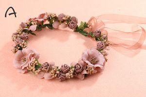 Meilleures ventes Accessoires de mariage Custom Made été coloré nuptiale Couronne à bas prix soie fleur nuptiale Bandeaux