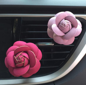 Rose Car Увлажнитель Воздуха Эфирные масла Диффузоры Очиститель Воздуха Автомобиля Вентиляционные отверстия Клип Духи Аксессуары Украшения Авто Аромат Аромат Автомобиля