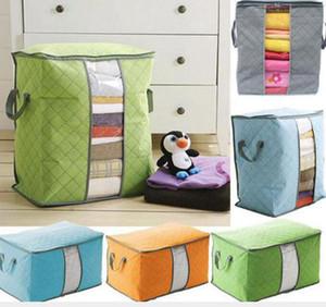 غير المنسوجة لحاف تخزين حقيبة طوي الملابس بطانية وسادة underbed الفراش المنظم صندوق القضية الرئيسية خزانة حقيبة التخزين