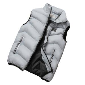 YJSFG HOUSE hombres calientes de la manera Tank Tops sin mangas espesar chaleco chaquetas de invierno chaleco otoño invierno casual tallas grandes abrigos