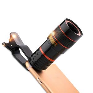 Universal Clip 8X 12X Zoom Handy Teleskopobjektiv Telephoto Externes Smartphone Kameraobjektiv