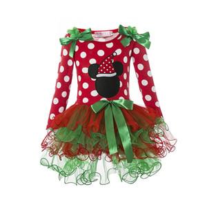 La caja roja vestido largo de fiesta de Navidad para muchachas de la manga vestir de los niños Frocks puntos ropa de invierno otoño traje de cosplay 1-5Y vestidos de niña