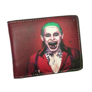 Suicide Squad Portafoglio The Joker Harley Quinn e Bat Man Anime Comics Bifold Portafogli da uomo con portamonete Billeteras