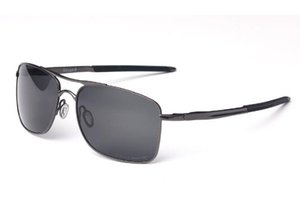 Uxury marca Black Metal Frame Red Colorful Gauge 4124 óculos de sol designer de marca de óculos de sol para homens óculos polarizados do vintage com caixa