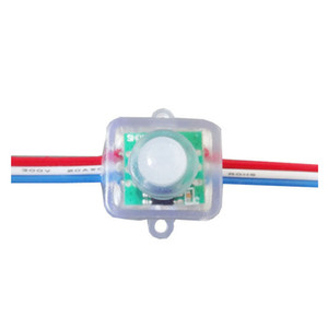 DC5V DC12V 12mm WS2811 led pixel module Light IP68 waterproof full color RGB string Christmas LED light Addressable as ucs1903 WS2801