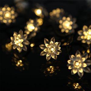 Noel Dekoratif Güneş Enerjili Işıklar, 21 LED Lotus Dize işık Açık Ev Veranda Çim Bahçe Noel Partisi Düğün için