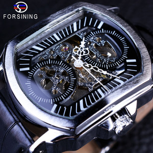 2018 Winner Retro Classic Designer Silver Stainless Steel Case Men Watches Top Brand Mechanical Automatic Watch Clock Men Free S