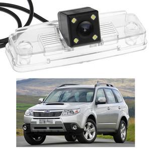 Yeni 4 LED Araç Arka Görüş Kamerası Ters Yedekleme CCD Subaru Forester 2009-2013 için fit 10 11 12
