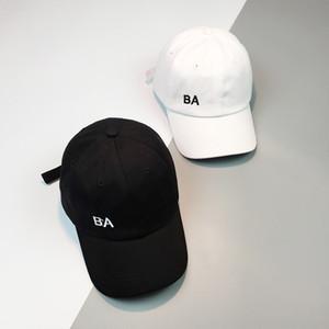2018 Estate New Hat Modelli femminili maschio generale coreano anatra lingua berretto da baseball BA alfabeto patch semplice selvaggio