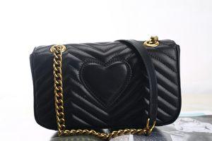 Ücretsiz nakliye Marmont çanta Lüks Çantalar kaliteli Ünlü Markalar Tasarımcı çanta kadın çantası Gerçek Deri Omuz Çanta Üç boyut