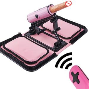 Updated Portable Handbag Sex Machine Remote Control Automatic Vibrators Thrusting Massage Clitoral Stimulator Sex Fruniture for Women E5-46