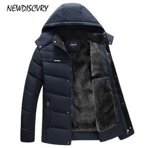 NEWDISCVRY мужская с капюшоном куртка зима человек куртка водонепроницаемый 2018 толстый флис теплый мужчины пальто повседневная пальто Мужская одежда верхняя одежда