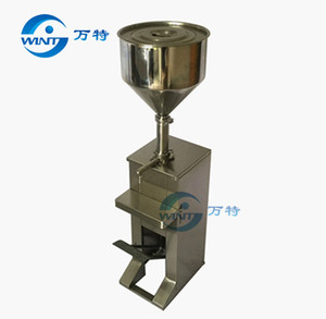 Economic pedal cream liquid piston filling machinery foot handle for high vicosity paste filler,beverage packaging equipment