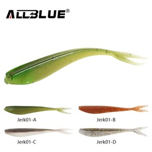 ALLBLUE 12pcs lot 1.5g 7.5cm Soft Jerk Bait Fishing Lure Shad Jerkbait Soft Silicone Bass Minnow Bait Swimbaits Split Tail Peche Y18100906