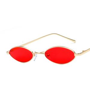 Moda Vintage Water Drop Elliptical Glasses Multicolor PC Lens Metal Frames Gafas de sol ovales para hombres y mujeres