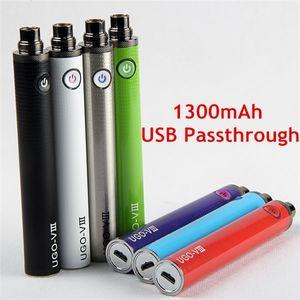 Autêntico UGO V3 UGO-V III 1300 mAh Bateria Vaporizador Caneta Ego T EVOD Micro USB Passthrough Fundo Carga 510 Vape E Cigarros baterias