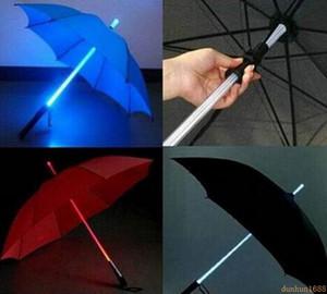 30 unids / lote Cool Blade Runner Light Sabre LED Flash Light Umbrella rose paraguas botella paraguas linterna Night Walkers